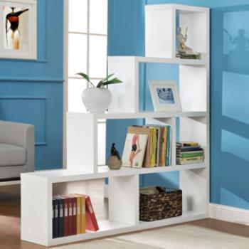 【咱的厝】L型多層展示櫃/書櫃/收納櫃/隔間櫃(白色)