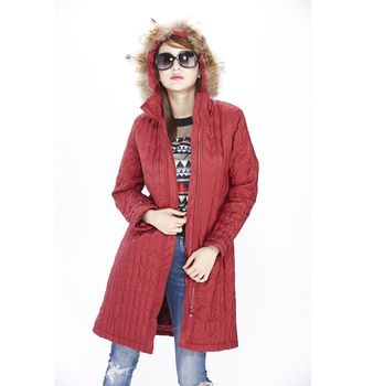 JOYJOY專攻顯瘦科技羽絨棉長大衣