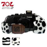 70L COLOR STRAP 彩色相機背帶 毛面動物乳牛紋