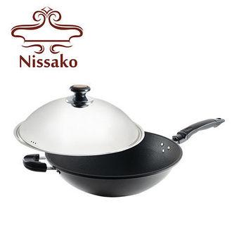 Nissako 遠紅外線陶瓷不沾炒鍋39cm含蓋