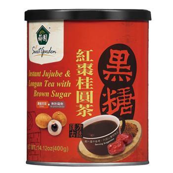 薌園 黑糖紅棗桂圓茶(粉末)(400g) x 4罐