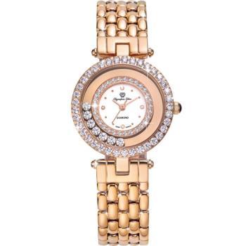 Olympia Star 奧林比亞之星-星空幻影真鑽時尚腕錶(玫瑰金)28019DLR