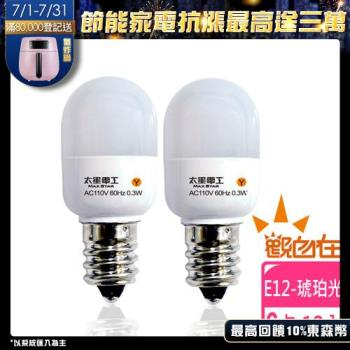 【太星電工】觀自在LED節能燈泡 E12/0.3W/2入(琥珀光)(6組) ANA226Y*6