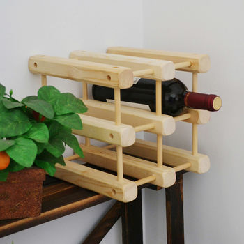 《WASHAMl》日式松木創意併接造型酒架(一組入)