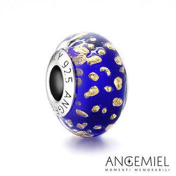 Angemiel安婕米 義大利純銀珠飾 深藍威尼斯 琉璃珠