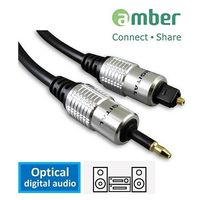 amber S/PDIF 光纖數位音訊傳輸線 / mini Toslink (3.5mm) 對Toslink-1M