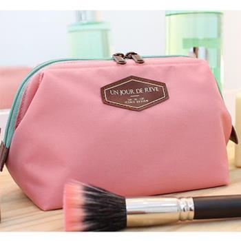 [fun bag]韓版 糖果色雙拉鍊化妝包 輕巧 隨身 旅行收納包 袋 甜美 簡約 方便攜帶