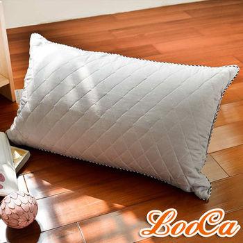 LooCa 可水洗抗菌竹炭棉枕1入《快速到貨》