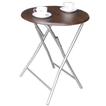 【頂堅】2.2公分鋼管[耐重型]圓形折疊桌(二色可選)