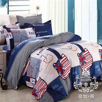 【AGAPE亞加‧貝】《MIT台灣製-凱蒂樂園》舒柔棉雙人加大6尺三件式薄床包組(百貨專櫃精品)-行動
