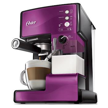 美國OSTER奶泡大師義式咖啡機 PRO升級版(晶鑽紫)