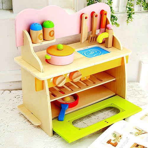 樂兒學 廚房組家家酒木製學習積木