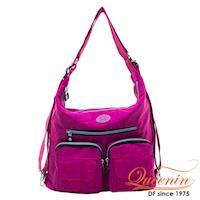 DF Queenin - 休閒系必買多功能原色3用後背包