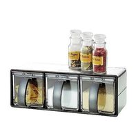 【促銷】日本ASVEL不鏽鋼外殼3格調味盒收納架