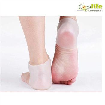 [Conalife] 矽膠足跟緩解/防裂隱形襪套 (3入)