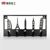 【OPUS東齊金工】歐式鐵藝經典建築造型壁飾掛勾 hobi06