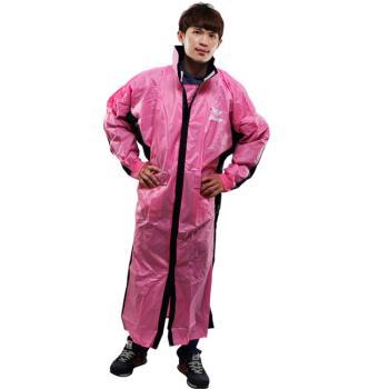 新二代 JUMP優帥前開式休閒風雨衣--粉紅黑