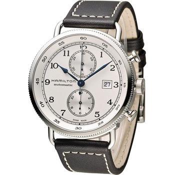 漢米爾頓 Hamilton Pioneer Auto Chrono 復刻計時腕錶 H77706553