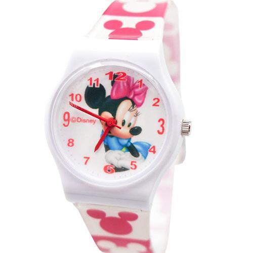 【Disney迪士尼】卡通錶(大) - 快樂米妮