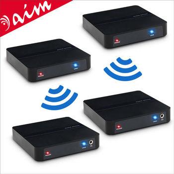 aim 2.4G遠距無線音源傳輸接收2x2矩陣套件組
