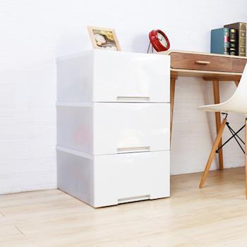 【HD】收納職人 Mabel 馬貝爾現代簡約風平板抽屜整理箱(大)3入/組