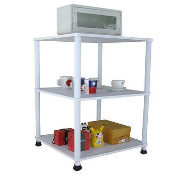 【Dr. DIY】60x60公分-三層長管-置物架/電器架(三色可選)