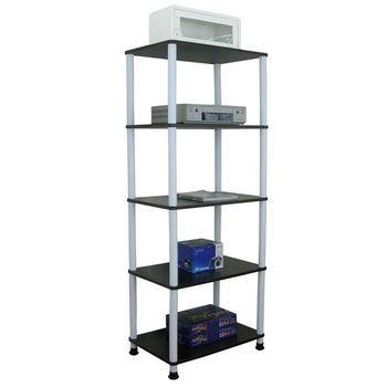 【Dr. DIY】寬60公分-五層長管-置物架/電器架(三色可選)