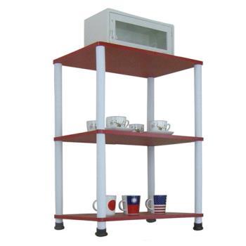 【Dr. DIY】寬60公分-三層長管-置物架/電器架(三色可選)