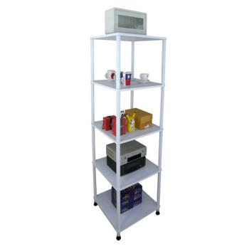 【Dr. DIY】寬40公分-五層長管-置物架/電器架(三色可選)