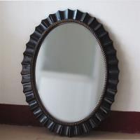 【協貿】復古做舊簡約橢圓形不規則邊裝飾壁掛鏡子