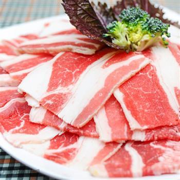飨赞 美国安格斯鲜嫩牛五花肉片200g *10包