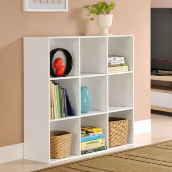 【咱的厝】DIY菲爾九格櫃/展示櫃/書櫃/收納櫃/隔間櫃(白色)