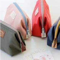 [fun bag]韓版 新款 大開口隨身化妝包 收納包 雙拉鍊設計 小物收納