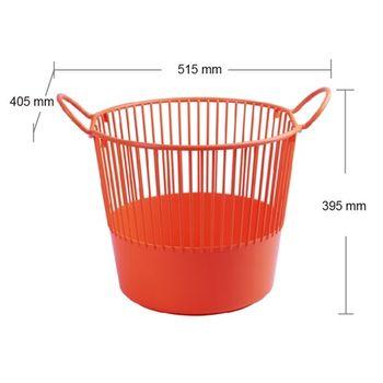 【將將好收納】米納洗衣籃-(隨機顏色出貨)