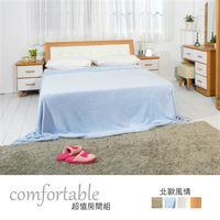 時尚屋 [WG5]貝絲北歐床箱型3件房間組-床箱+床底+床頭櫃2個1WG5-2+5031+(3W*2)