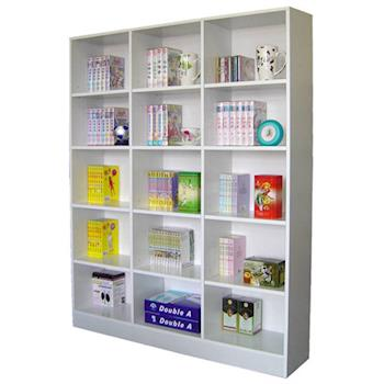 【Dr. DIY】15格(寬120公分)大型書櫃/收納櫃/置物櫃-二色可選