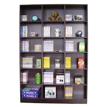 【Dr. DIY】18格(寬120公分)超大型書櫃/收納櫃/置物櫃-二色可選