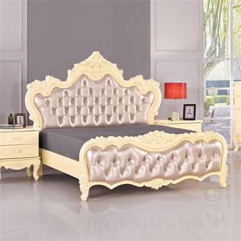 時尚屋 [G16]拉提雅法式6尺加大雙人床G16-013-1不含床頭櫃-床墊