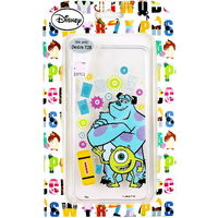 【Disney】HTC Desire 728 花朵系列 彩繪透明保護軟套-大眼怪毛怪