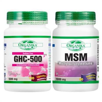 【Organika優格康】關鍵活力組 (MSM有機硫+無鈉葡萄糖胺)