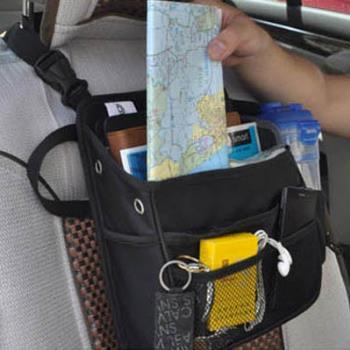 E.City_ 車用椅背多功能3C立體置物袋