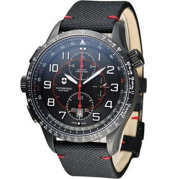 【Victorinox 維氏】Airboss MACH 9 自動上鏈機械計時碼錶(VISA-241716)