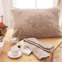 HO KANG 繽紛純棉枕巾-咖啡 2入