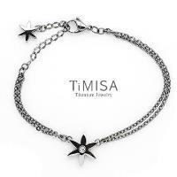 【TiMISA】花漾璀燦(3色) 純鈦手鍊