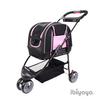 【IBIYAYA依比呀呀】雙重奏分離式寵物提包推車-粉(FS1511)