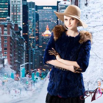【A3】 華麗主義修身皮草大衣