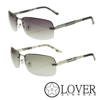【Lover】精品半框金屬太陽眼鏡(9123 兩色選擇)