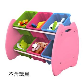 【SONA MALL】喵頭鷹六格玩具收納架