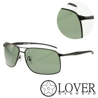 【Lover】精品方框墨綠太陽眼鏡(9309-C02)