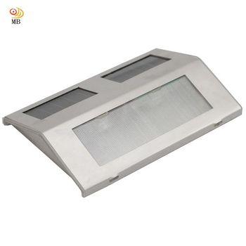 月陽不鏽鋼太陽能充電式自動光控2LED台階燈階梯燈柵欄燈超值2入(5082)